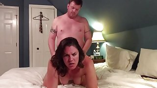 Milf with nice ass gets pussy stuffed with cock and creampie