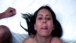 Juicy Colombian Slut Cum Gargling