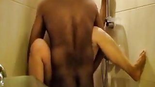indonesian girl gets both holes Fucked in the bathroom